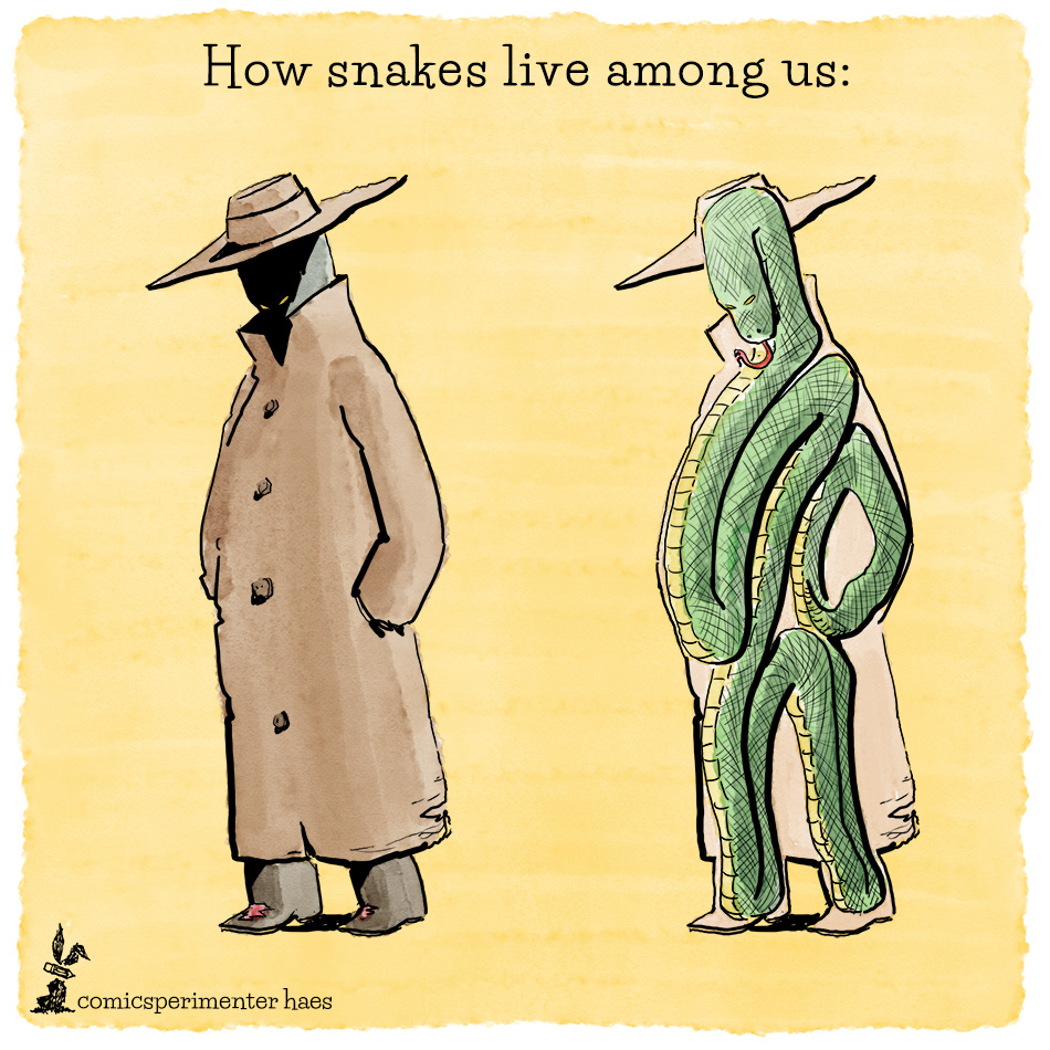 how snakes live among us cartoon - comicsperimenter haes