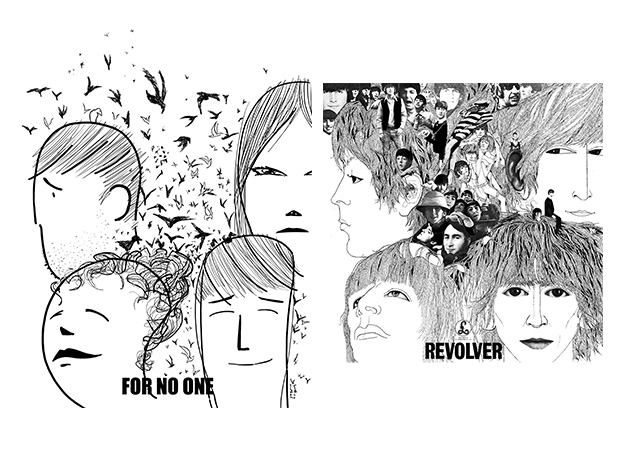 Revolver The Beatles - comic vs record