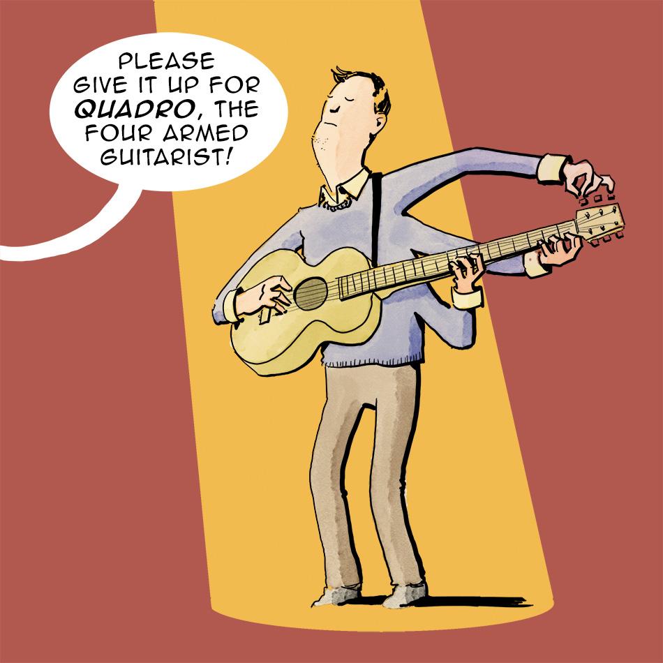 quadro the four armed guitarist - comicsperimenter haes